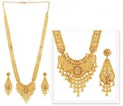 gold har set gold patta necklace set ajns51090 22k gold necklace and