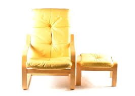 Ikea Poang Ottoman Poang Chair Leather Yellow Leather Chair And Ottoman Ii Poang