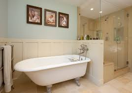 Traditional Bathtub Claw Foot Tubs Bathroom Traditional With Towel Warmer Shower Caddy