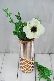 Copper Flower Vase Vase 9 Inch Copper U0026 White Ceramic