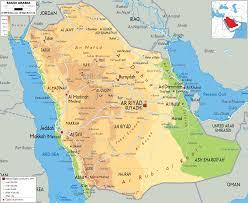 map if asia physical map of saudi arabia ezilon maps