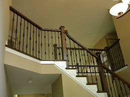 Replacing Banister Wood Stairs And Rails And Iron Balusters Iron Balusters And New