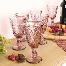 six amethyst wine glasses gift set by dibor notonthehighstreet com
