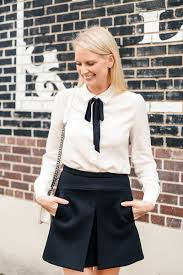 White Blouse With Black Bow Black And White The Style Scribe