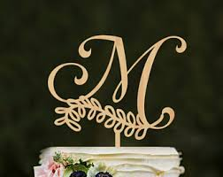wedding cake toppers letters letter cake topper etsy
