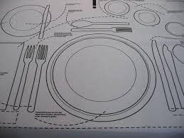 table setting placemat kniggerich placemats teach table etiquette infographics