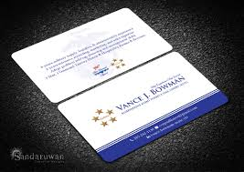 elegant playful business card design for vance bowman by