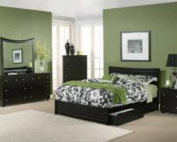 Black Wooden Bed Frames Moss Green Simple Wall Paint Black Wooden Bed Frame Floral