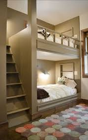 Bunk Beds In Wall Contemporary Bedroom With Bunk Beds Wall Sconce Zillow