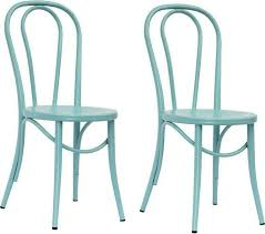 Target Dining Room Chairs Emery Metal Bistro Chair Ancient Aqua Set Of 2 Threshold At