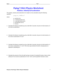 Speed Velocity And Acceleration Worksheet With Answers Acceleration And Free Fall Worksheet