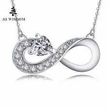 personalized sterling silver necklaces jo wisdom personalized name necklace customize infinity 925