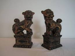 foo dog bookends vintage black and gold foo dog bookends at 1stdibs