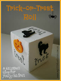 trick or treat roll a halloween game for young children my
