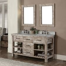 Bathroom Vanities With Top by Accos 60 Inch Rustic Double Sink Bathroom Vanity Marble Top