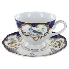 tea cup set decorated teacups