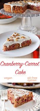 cranberry carrot cake from vegan kitchen recipe from