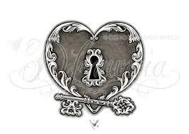 heart lock n key tattoo design tatusssss pinterest locks