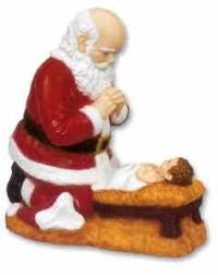 santa and baby jesus picture outdoor statue santa and baby jesus 24 discount catholic store