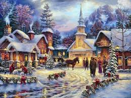 hd print oil painting on canvas no frame font b christmas b font