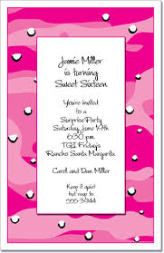 pink camouflage party invitation birthday invitations