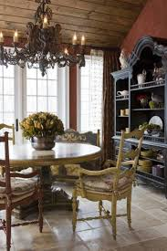 french country style dining room with chandelier french country