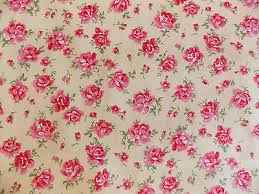 rose floral100 cotton fabric shabby chic vintage retro per metre