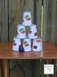 carnival games falling leaves cups