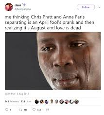 Chris Pratt Meme - internet loses it over chris pratt and anna faris split daily mail