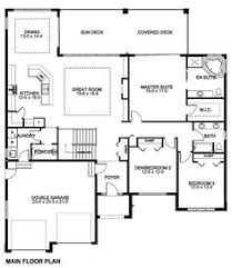 ranch floor plans with basement plan w6964am craftsman sloping lot ranch photo gallery