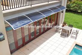 Back Porch Awning Door Canopy Solid Roof Front Back Outdoor Rain Awning Porch