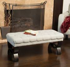 Upholstered Entryway Bench Wooden Traditional Backless Benches Ebay