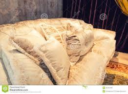 big pillows for sofa velvet pillows on the light brown sofa stock photo image 45242469