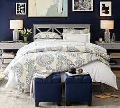 Navy Blue And Gray Bedding Blue Bedding Pottery Barn
