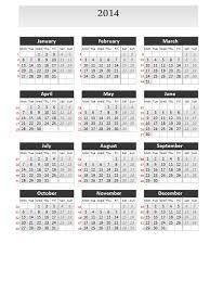simple calendar 2014 for powerpoint
