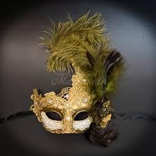 mardi gras masks for women masquerade mask brown feather masquerade mask women m7631