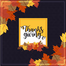 happy thanksgiving day background vector free