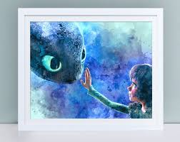 dragon trainer watercolor wall art train dragon