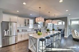 one wall kitchen designs with an island transitional kitchen with glass panel breakfast bar flush