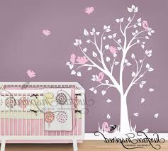 White Tree Wall Decal For Nursery by Wall Decals For Boy Nursery Cotton Baby Diaper Stacker Wicker Toys