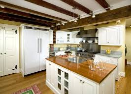 lighting on exposed beams lighting exposed beams kitchen traditional with track lighting