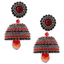 fancy jhumka earrings buy halowishes traditional handcrafted fancy diamond chain jhumka