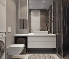 Bathroom Designing by Two Efficient Apartments For Families With Two Children