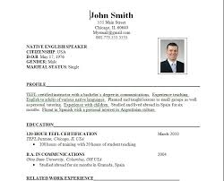 make resume format format for be