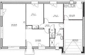 plan maison 3 chambres plain pied plan maison 130m2 plain pied