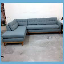 Contemporary Armchairs Cheap Living Room Mid Century Modern Leather Sectional Sofa Blue White