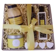 candle gift baskets mellow yellow bath candle gift box