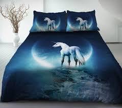 Blue Linen Bedding - bed linen glamorous unicorn bed linen unicorn bed in a bag