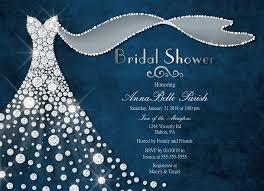 blue and silver wedding dress bridal shower invitations dress