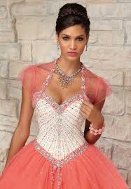 quinceanera dresses coral buy tailor made amazing style sweetheart beaded tulle coral
